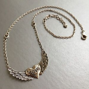 Jewelry - Barse Winged Heart Sterling Silver Necklace